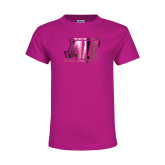 Youth Cyber Pink T Shirt-AU  Foil