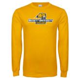 Gold Long Sleeve T Shirt-Averett University Cougars