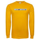 Gold Long Sleeve T Shirt-Averett University