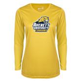 Ladies Syntrel Performance Gold Longsleeve Shirt-Primary Mark