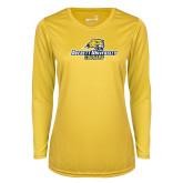 Ladies Syntrel Performance Gold Longsleeve Shirt-Averett University Cougars