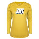 Ladies Syntrel Performance Gold Longsleeve Shirt-AU