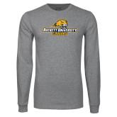 Grey Long Sleeve T Shirt-Averett University Cougars