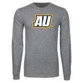 Grey Long Sleeve T Shirt-AU