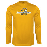 Syntrel Performance Gold Longsleeve Shirt-Averett University Cougars