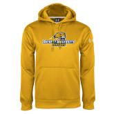 Under Armour Gold Performance Sweats Team Hoodie-Averett University Cougars