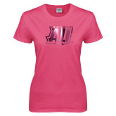Ladies Fuchsia T Shirt-AU  Foil