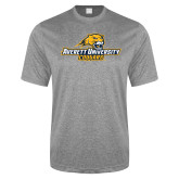 Performance Grey Heather Contender Tee-Averett University Cougars