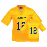 Youth Replica Gold Football Jersey-#12