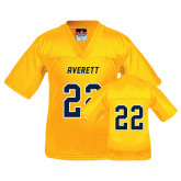 Youth Replica Gold Football Jersey-#22