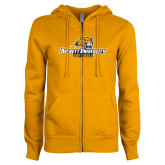 ENZA Ladies Gold Fleece Full Zip Hoodie-Softball