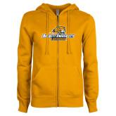 ENZA Ladies Gold Fleece Full Zip Hoodie-Lacrosse