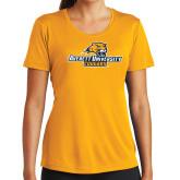 Ladies Syntrel Performance Gold Tee-Averett University Cougars