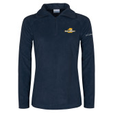 Columbia Ladies Half Zip Navy Fleece Jacket-Averett University Cougars