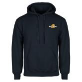 Navy Fleece Hoodie-Averett University Cougars