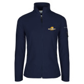 Columbia Ladies Full Zip Navy Fleece Jacket-Averett University Cougars