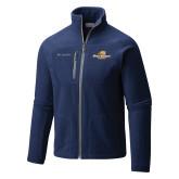 Columbia Full Zip Navy Fleece Jacket-Averett University Cougars