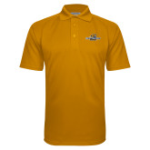 Gold Textured Saddle Shoulder Polo-Averett University Cougars