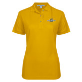 Ladies Easycare Gold Pique Polo-Averett University Cougars