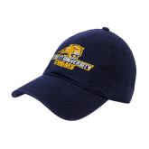 Navy Twill Unstructured Low Profile Hat-Averett University Cougars