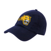 Navy Twill Unstructured Low Profile Hat-Cougar Head