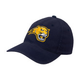 Navy OttoFlex Unstructured Low Profile Hat-Cougar Head