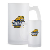 Full Color Decorative Frosted Glass Mug 16oz-Primary Mark