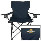 Deluxe Navy Captains Chair-Averett University Cougars