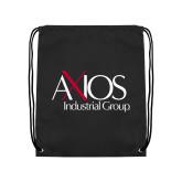 Black Drawstring Backpack-AXIOS Industrial Group