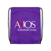 Purple Drawstring Backpack-AXIOS Industrial Group