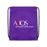 Purple Drawstring Backpack-AXIOS Industrial Maintenance