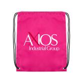 Pink Drawstring Backpack-AXIOS Industrial Group