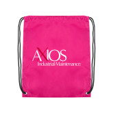 Pink Drawstring Backpack-AXIOS Industrial Maintenance
