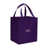 Non Woven Purple Grocery Tote-AXIOS Industrial Maintenance