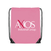 Light Pink Drawstring Backpack-AXIOS Industrial Group
