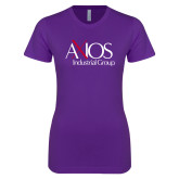 Next Level Ladies SoftStyle Junior Fitted Purple Tee-AXIOS Industrial Group