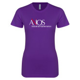 Next Level Ladies SoftStyle Junior Fitted Purple Tee-AXIOS Industrial Maintenance