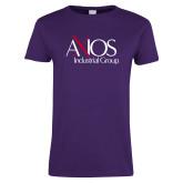 Ladies Purple T Shirt-AXIOS Industrial Group