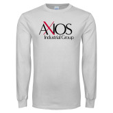 White Long Sleeve T Shirt-AXIOS Industrial Group