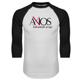 White/Black Raglan Baseball T Shirt-AXIOS Industrial Group