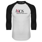 White/Black Raglan Baseball T Shirt-AXIOS Industrial Maintenance