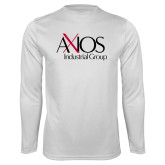 Performance White Longsleeve Shirt-AXIOS Industrial Group