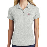 Ladies Silver Electric Heather Polo-AXIOS Industrial Maintenance