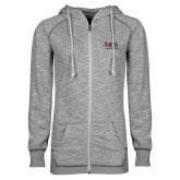 ENZA Ladies Grey/Black Marled Full Zip Hoodie-AXIOS Industrial Group