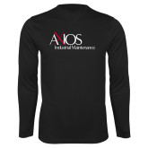Performance Black Longsleeve Shirt-AXIOS Industrial Maintenance