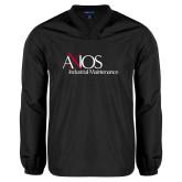 V Neck Black Raglan Windshirt-AXIOS Industrial Maintenance