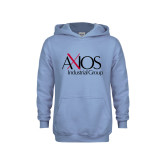 Youth Light Blue Fleece Hoodie-AXIOS Industrial Group