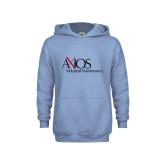 Youth Light Blue Fleece Hoodie-AXIOS Industrial Maintenance
