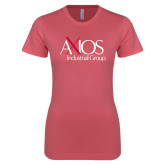Next Level Ladies SoftStyle Junior Fitted Pink Tee-AXIOS Industrial Group