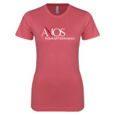 Next Level Ladies SoftStyle Junior Fitted Pink Tee-AXIOS Industrial Maintenance